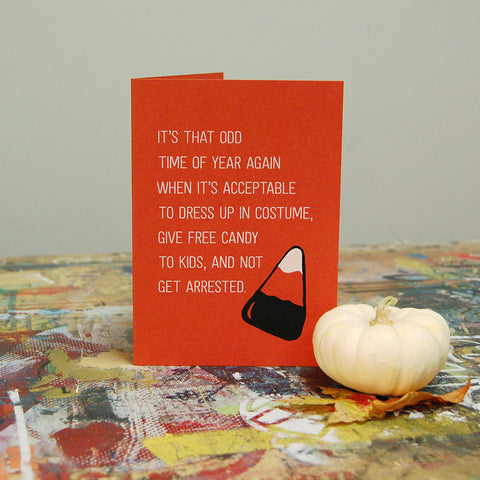 Halloween Candy Corn - Screenprint Card