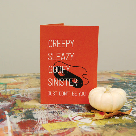 Halloween Costume - Screenprint Card