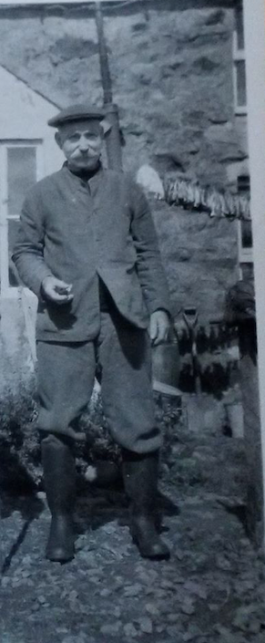My Great Grandfather Salting Fish