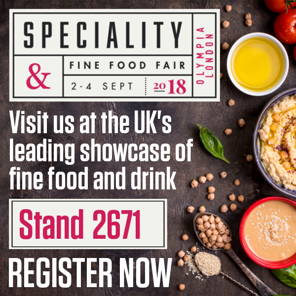 Come see us at the Speciality and Fine Food Fair from 2nd to 4th September, at Olympia, London