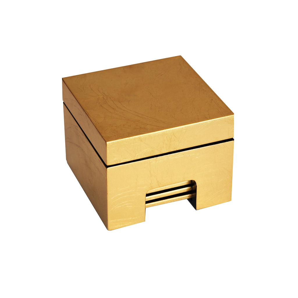 Coastbox in Gold Leaf - Posh Trading Company  - Interior furnishings london