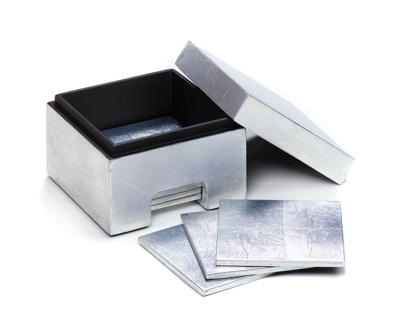 Coastbox Silver Leaf Silver - Posh Trading Company  - Interior furnishings london