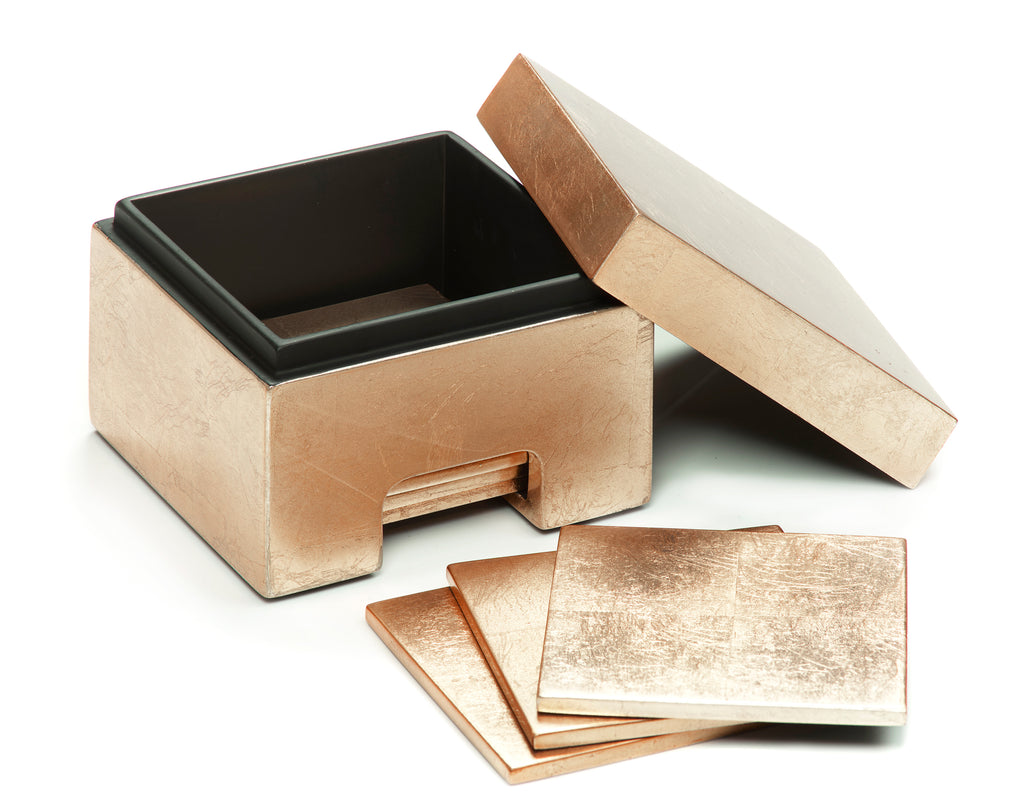 Coastbox Silver Leaf Gold - Posh Trading Company  - Interior furnishings london