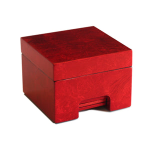 Coastbox Silver Leaf Red - Posh Trading Company  - Interior furnishings london