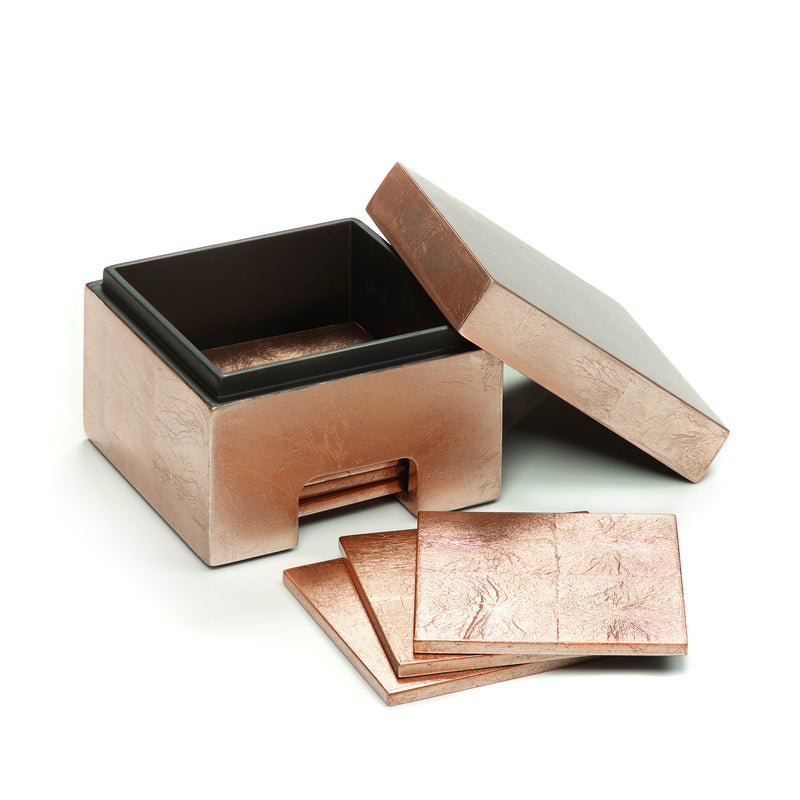 Coastbox Silver Leaf Rose Gold - Posh Trading Company  - Interior furnishings london