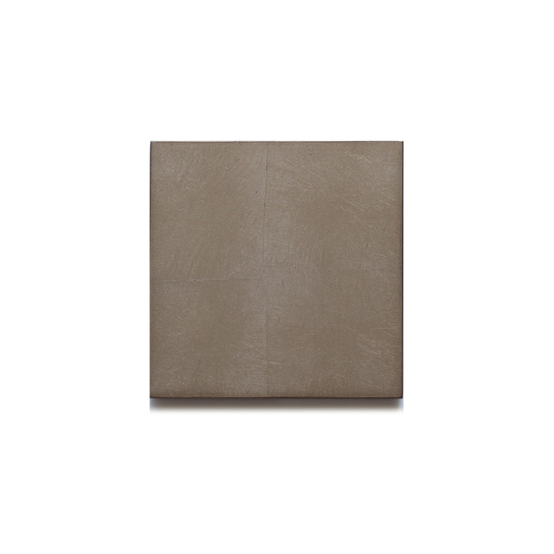 Silver Leaf Chic Matte Coaster Taupe