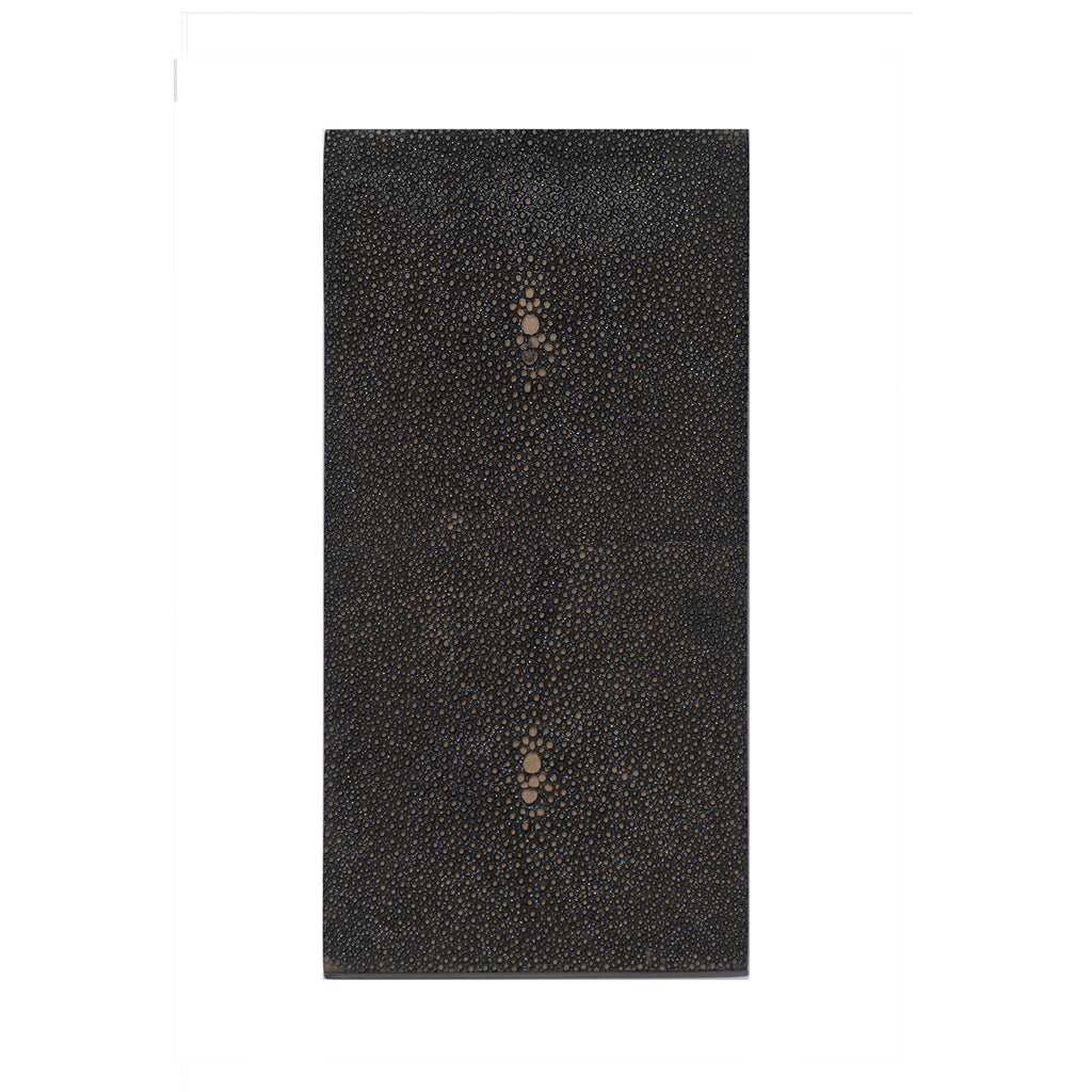 Double Coaster Faux Shagreen Chocolate - Posh Trading Company  - Interior furnishings london