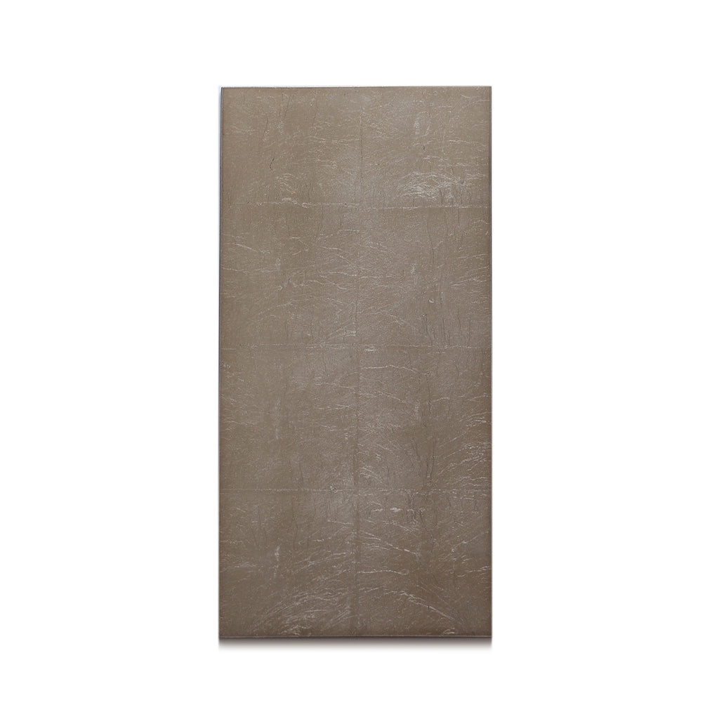 Silver Leaf Chic Matte Double Coaster Taupe - Posh Trading Company  - Interior furnishings london
