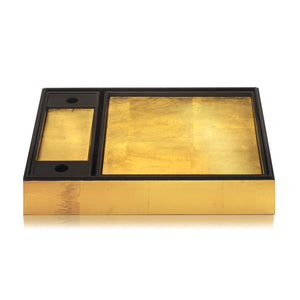 Matbox in Gold Leaf - Posh Trading Company  - Interior furnishings london