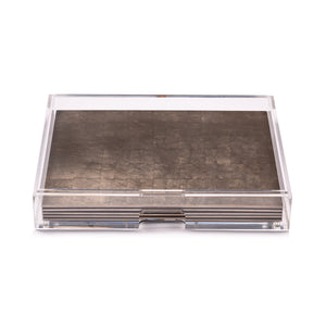 Grand Matbox Clear Silver Leaf Chic Matte Taupe