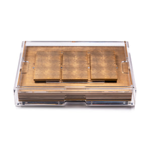 Grand Matbox Clear Silver Leaf Matte Chic Gold