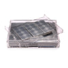 Grand Matbox Clear Silver Leaf Chic Matte Silver - Posh Trading Company  - Interior furnishings london