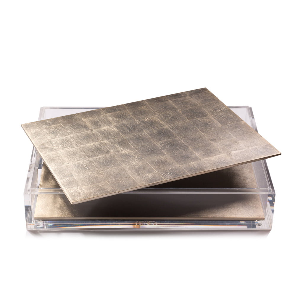 Matbox Clear Silver Leaf Chic Matte Champagne - Posh Trading Company  - Interior furnishings london
