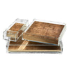 Matbox Clear Silver Leaf Gold - Posh Trading Company  - Interior furnishings london