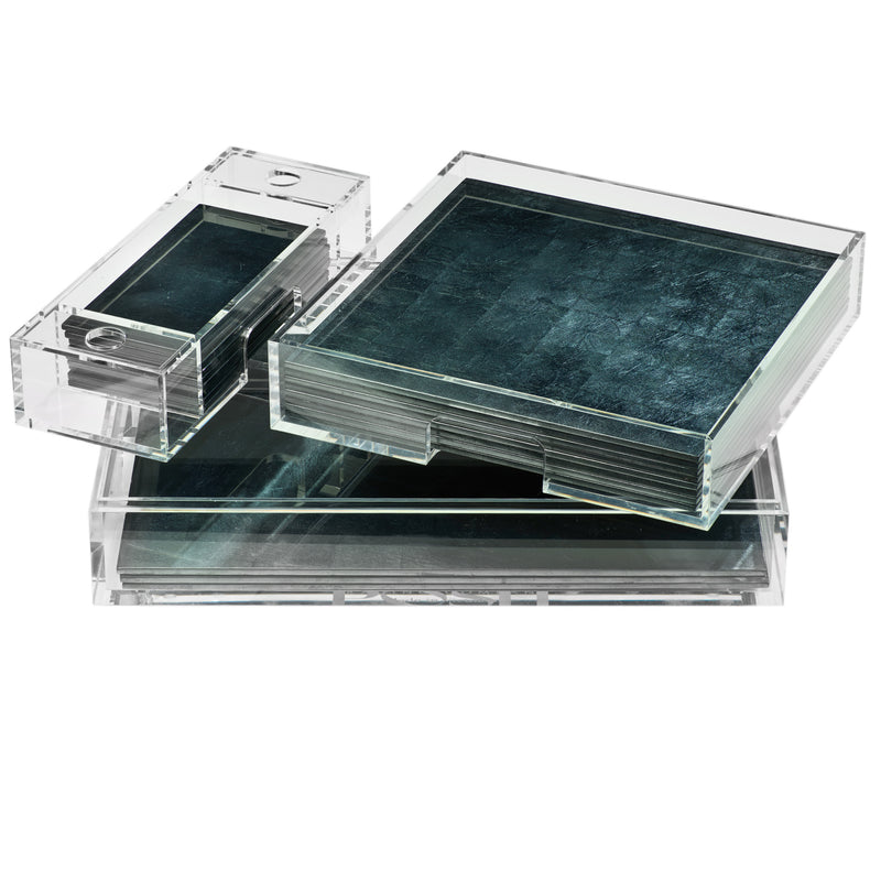 Mabox Clear Silver Leaf Stormy Sky - Posh Trading Company  - Interior furnishings london