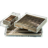 Matbox Clear Silver Leaf Taupe - Posh Trading Company  - Interior furnishings london