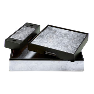 Matbox Silver Leaf Silver - Posh Trading Company  - Interior furnishings london