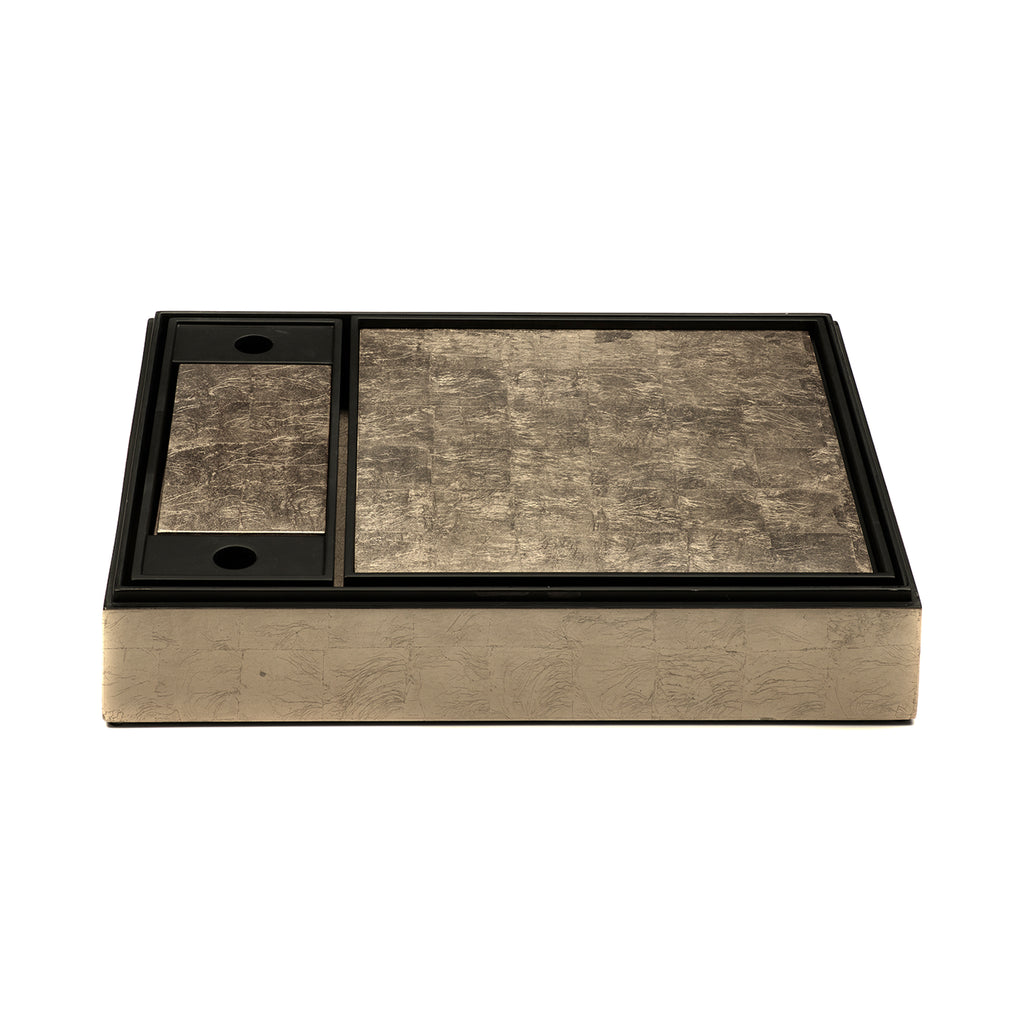 Matbox Silver Leaf Taupe - Posh Trading Company  - Interior furnishings london