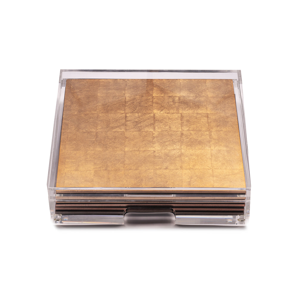 Placebox Clear Silver Leaf Gold - Posh Trading Company  - Interior furnishings london