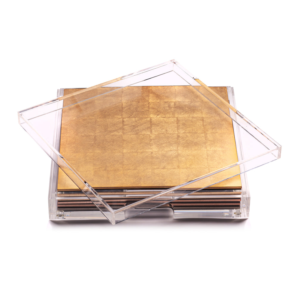 Placebox Clear Silver Leaf Gold
