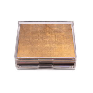 Placebox Clear Silver Leaf Chic Matte Gold - Posh Trading Company  - Interior furnishings london