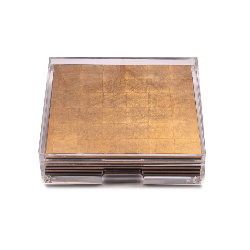Placebox Clear Silver Leaf Chic Matte Gold