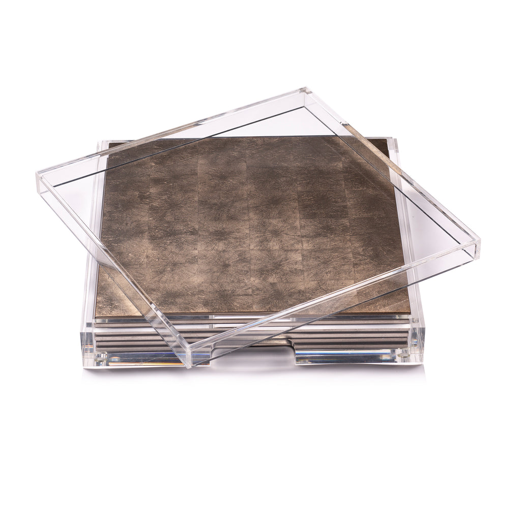 Placebox Clear Silver Leaf Chic Matte Taupe