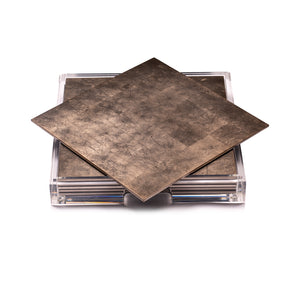 Placebox Clear Silver Leaf Chic Matte Taupe - Posh Trading Company  - Interior furnishings london