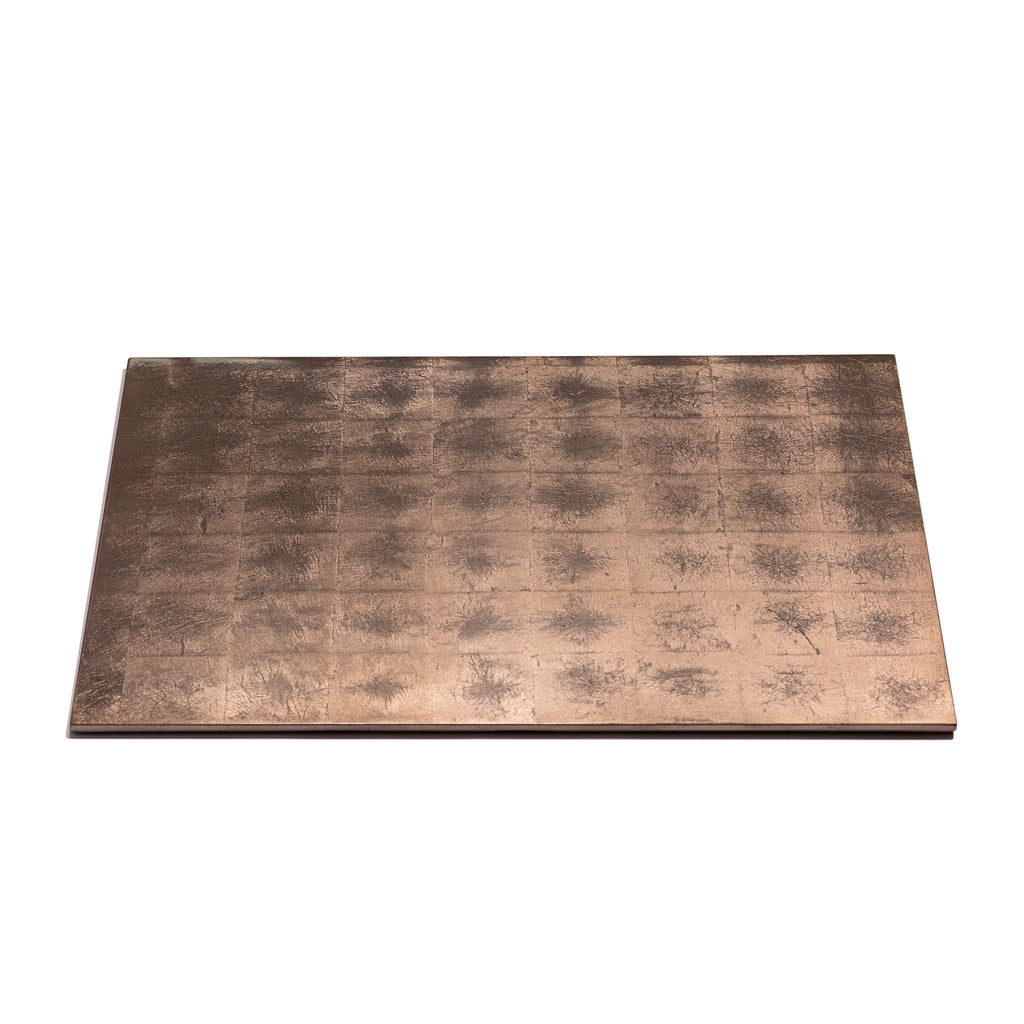 Silver Leaf Serving Mat / Grand Placemat Taupe - Posh Trading Company  - Interior furnishings london