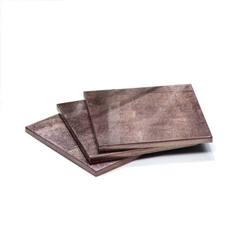 Silver Leaf Coaster Taupe - Posh Trading Company  - Interior furnishings london