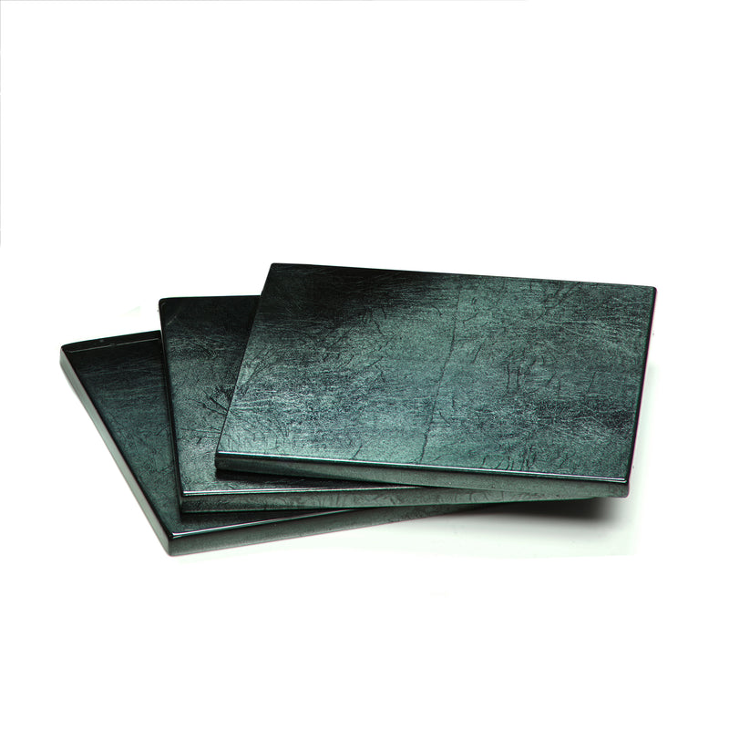 Silver Leaf Coaster Stormy Sky - Posh Trading Company  - Interior furnishings london