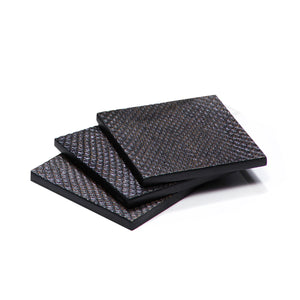 Coaster Faux Boa Charcoal - Posh Trading Company  - Interior furnishings london