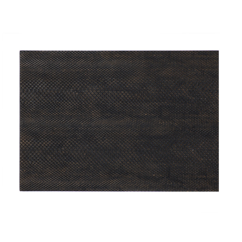 Serving Mat / Grand Placemat Faux Boa Charcoal - Posh Trading Company  - Interior furnishings london