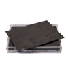 Servebox Clear Shagreen Chocolate