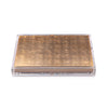 Servebox Clear Silver Leaf Chic Matte Gold