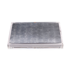 Servebox Clear Silver Lead Silver - Posh Trading Company  - Interior furnishings london