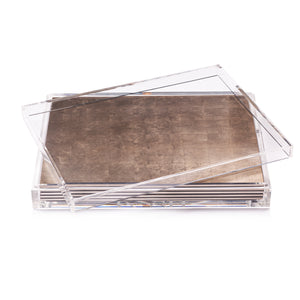 Servebox Clear Silver Leaf Chic Matte Taupe