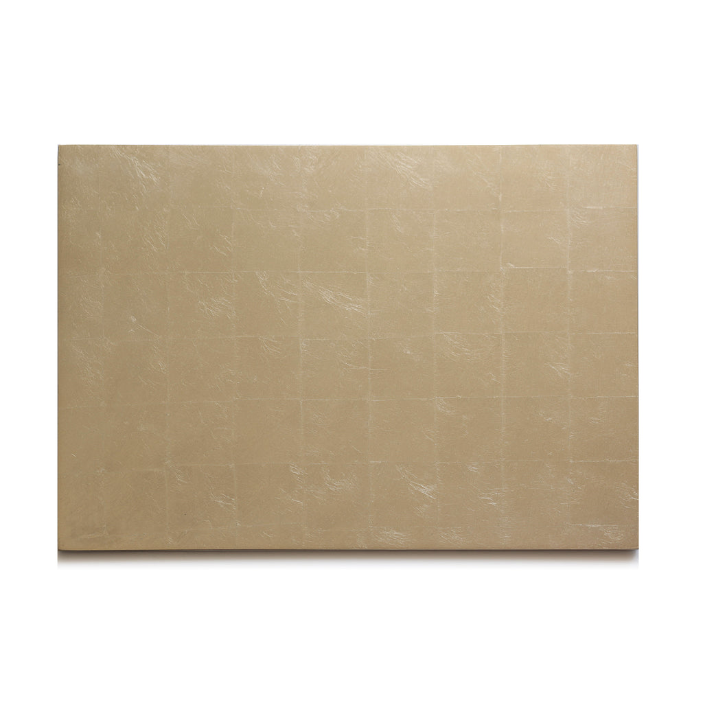 Silver Leaf Chic Matte Serving Mat/ Grand Placemat Champagne - Posh Trading Company  - Interior furnishings london