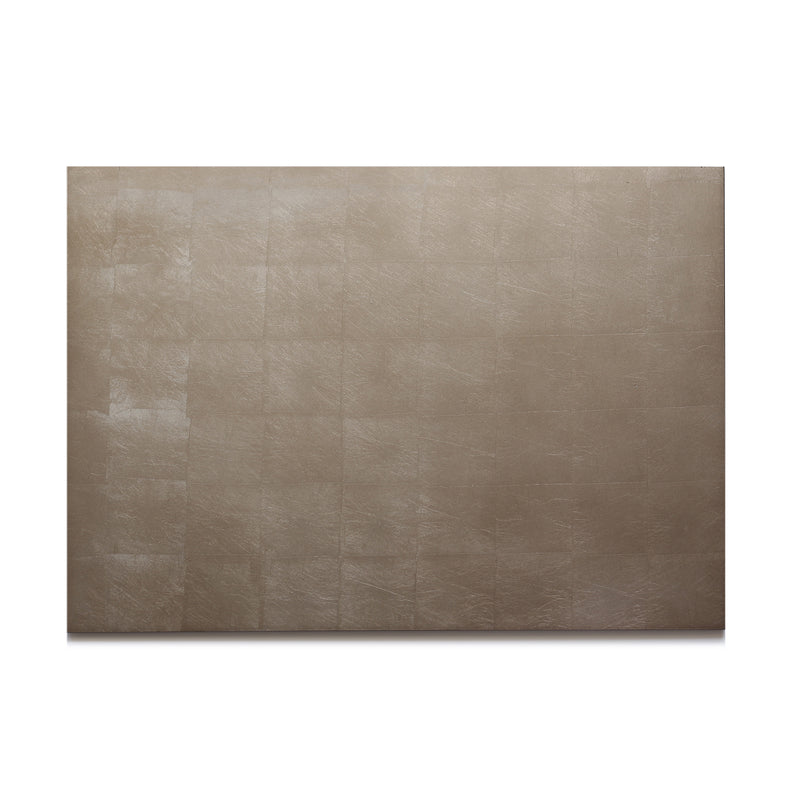 Silver Leaf Chic Matte Serving Mat/Grand Placemat Taupe - Posh Trading Company  - Interior furnishings london