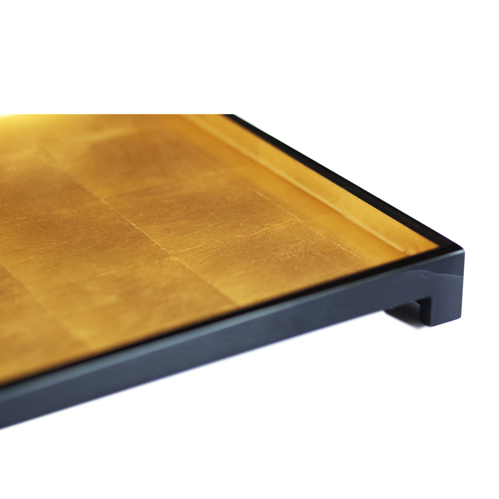 The London Tray in Gold Leaf Large - Posh Trading Company Trays - Interior furnishings london