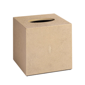 Chelsea Square Tissue Box Shagreen Natural
