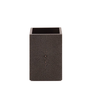 Chelsea Toothbrush Holder  Shagreen Chocolate
