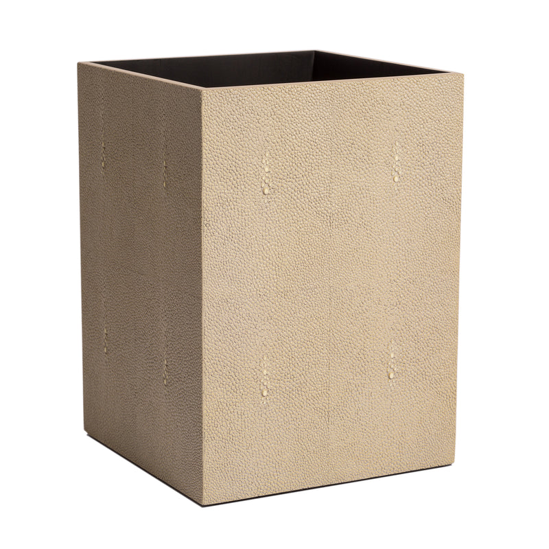 Chelsea Waste Basket Shagreen Natural