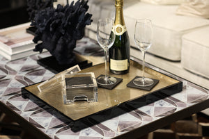 The Windsor Tray Large in Silver Leaf - Posh Trading Company Trays - Interior furnishings london