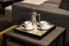 The Windsor Tray Square in Silver Leaf - Posh Trading Company Trays - Interior furnishings london
