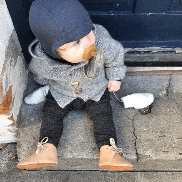 Mokkasiner - Caramel Booties  Baby Sko Outdoor