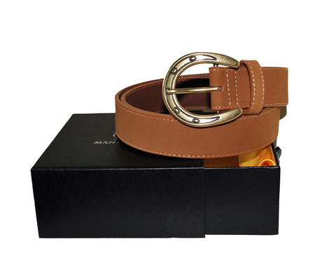 Horse Shoe Leather Belt