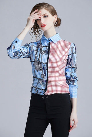 Long Sleeved Checked pattern shirt