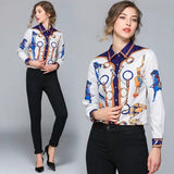 Long Sleeved  Horse Bit pattern shirt