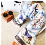 ****NEW**** Long Summer Horse Print Scarf